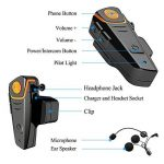 1000m Bluetooth Headset Interphone Moto Bluetooth Nouvelle génération Universal Waterproof Headphone Headphone Interphone interphone Bluetooth pour 2 ou 3 pilotes et audio pour Walkie Talkie GPS MP3 Player - mains libres et radio FM (2 pièces) de la marqu image 3 produit