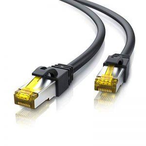 2m Ethernet Câble CAT 7 | Gigabit LAN Réseau 10Gbps | 2x fiches RJ45 | S/FTP Blindage | PC / Switch / Router / Modem / TV Box / Boîtiers ADSL / Consoles de Jeux Vidéo | Noir de la marque Primewire image 0 produit