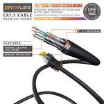 2m Ethernet Câble CAT 7 | Gigabit LAN Réseau 10Gbps | 2x fiches RJ45 | S/FTP Blindage | PC / Switch / Router / Modem / TV Box / Boîtiers ADSL / Consoles de Jeux Vidéo | Noir de la marque Primewire image 2 produit