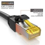 2m Ethernet Câble CAT 7 | Gigabit LAN Réseau 10Gbps | 2x fiches RJ45 | S/FTP Blindage | PC / Switch / Router / Modem / TV Box / Boîtiers ADSL / Consoles de Jeux Vidéo | Noir de la marque Primewire image 3 produit