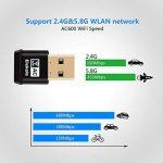 adaptateur USB Wifi adaptateur WPS adaptateur AP sans fil 2.4 GHz/ 5.8 GHz 600Mbps 1200Mbps pour Windows XP/ Vista/ 7/ 8/ 8.1/ 10, Linux 2.6 ou supérieur, Mac OS X 10.6-10.12 de la marque Elekele image 2 produit