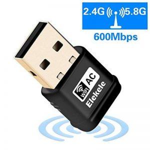 adaptateur USB Wifi adaptateur WPS adaptateur AP sans fil 2.4 GHz/ 5.8 GHz 600Mbps 1200Mbps pour Windows XP/ Vista/ 7/ 8/ 8.1/ 10, Linux 2.6 ou supérieur, Mac OS X 10.6-10.12 de la marque Elekele image 0 produit