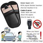 Alfie Faraday Lot de 2étuis de protection anti-vol pour cartes clés de voiture, cartes de crédit ou clés avec télécommande RFID, blocage des ondes malveillantes WIFI/GSM/LTE/NFC/RF de la marque Alfie UK image 1 produit