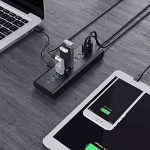 AUKEY Hub USB Alimenté 7 Port USB 3.0 avec 3 Port Charge 2,4 A avec Alimentation 48W, on/Off Switch et Cable USB 3.3ft/1m Hub USB 3.0 pour Windows XP/Vista/7/8/10/Mac Os/Linux 3.0, etc. de la marque AUKEY image 3 produit