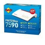 AVM Fritz!Box 7590International Modem Routeur sans Fil Rapide AC + N 2533Mbit/s, Vitesse Internet 300Mbit/s Grâce à VDSL supervectoring 35B, Téléphonie analogique et VoIP, Base DECT, Media Server de la marque AVM image 3 produit