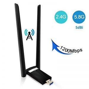 Clé Wifi 1200Mpbs SUMGOTT USB Adaptateur WiFi USB 3.0 Longue portée sans fil double bande 5Ghz 867Mbps soutien pour PC fenêtre XP / Vista / 7/8/10, Max OSX de la marque SUMGOTT image 0 produit