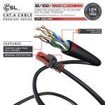 CSL - 10 x 0,5m Cat.6 Ethernet Câble Gigabit LAN Réseau | 2X fiches RJ45 | Haute Vitesse 10/100 / 1000 Mo/s | UTP | PC/Switch / Router/Modem / TV Box/Consoles de Jeux Vidéo | Noir de la marque CSL-Computer image 2 produit
