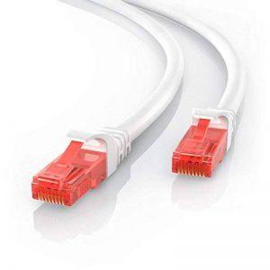 CSL - 20m CAT.6 Ethernet Câble Gigabit LAN Réseau | 2x fiches RJ45 | haute vitesse 10/100 / 1000 Mo/s | UTP | PC/Switch / Router/Modem / TV Box/Consoles de Jeux Vidéo | Blanc de la marque CSL-Computer image 0 produit