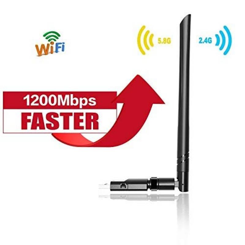 1200M WLAN Adaptateur sans Fil AC Dual Band WLAN Stick avec Antenne Jack et Antenne D/étachable pour Win 10//8.1//8//7//XP//Vista Mac OS Yizhet Cl/é WiFi Adaptateur 2.4G//300Mbps+5.8G//867Mbps