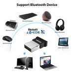 EKSEN Bluetooth 4.0Dongle Adaptateur, Plug Play sur Windows 10, 8, 7, Vista, XP 32/64Bits Ordinateur Portable PC Haut-Parleur Bluetooth, Casque, Clavier, Souris, etc. de la marque EKSEN image 4 produit