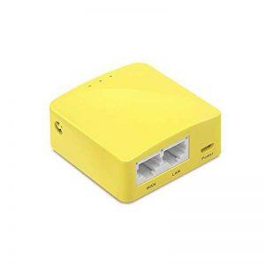 GL.iNET GL-MT300N-V2 Mini Travel Router, WiFi Converter, OpenWrt Pre-Installed, Repeater Bridge, 300Mbps High Performance, OpenVPN Client, Tor Compatible de la marque GL.iNET image 0 produit