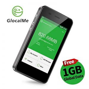 GlocalMe G3 Routeur Mobile 4G LTE Wi-Fi Hotspot Sans Fil, 1Go Débit Gratuit, LCD Écran Tactile, Batterie 5350mAh Fonction Powerbank, Dual Nano SIM Carte Débloqué, Portable Mi-Fi pour Voyage/Déplacement Gris de la marque Glocalme image 0 produit
