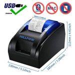 HILLPOW Imprimante Thermique de réception de 58MM USB, Impression à Haute Vitesse 90mm / Sec, Compatible avec Les Commandes d'impression d'ESC/POS fixées-EU de la marque HILLPOW image 1 produit