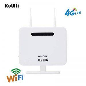 KuWFi Routeur Wi-FI, 300Mbps Débloqué 4G LTE WiFi Mobile Modem 3G 4G AP WiFi Routeur WiFi Hotspot avec Carte SIM Prise de Soutien Travailler avec Bouygues/Free / Orange/SFR Carte SIM (avec antenne) de la marque KuWFi image 0 produit
