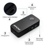 Mpow Récepteur Bluetooth 4.1 Kit Mains Libres Streambot Kit auto Voiture, A2DP Streambot Kit Voiture Mains Libres & Adaptateur sans fil pour Maison / Voiturer Audio System avec Sortie Stéréo 3.5 mm de la marque Mpow image 1 produit