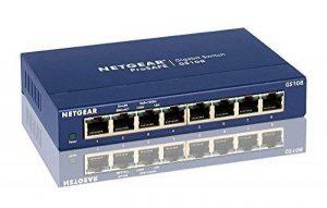 NETGEAR GS108GE Switch Métal 8 Ports Non Manageables ProSAFE de la marque Netgear image 0 produit