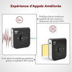 Récepteur Bluetooth TaoTronics Adaptateur Bluetooth 4.1 Avec 15 Heures de Diffusion audio portable pour Kit Audio Voiture 3.5 mm AUX Sortie Stéréo Bluetooth 4.1, A2DP, Micro Intégré Amélioré, Réduction de Bruit CVC de la marque TaoTronics image 3 produit