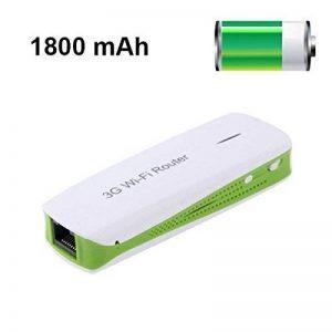 Routeur Wifi portable hotspot 3G batterie externe 1800 mAh USB Vert de la marque YONIS image 0 produit