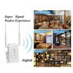 Répéteur Wifi Routeur N300 longue portee Extenseur Sans Fil Mini Point d'accès Internet Amplificateur De Signal ,2 Port Ethernet, Installation Facile, 2.4GHz, WPS, Compatibilité Universelle-Blanc de la marque Aigital image 2 produit