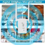 Répéteur Wifi Routeur N300 longue portee Extenseur Sans Fil Mini Point d'accès Internet Amplificateur De Signal ,2 Port Ethernet, Installation Facile, 2.4GHz, WPS, Compatibilité Universelle-Blanc de la marque Aigital image 3 produit
