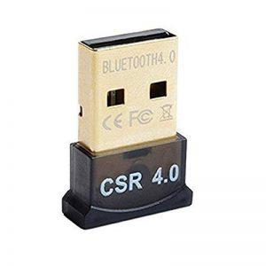 SYIN Mini USB Bluetooth 4.0 Adaptateur Dongle pour ordinateur portable (carré) ** Compatible avec Windows XP / Vista / 7 (32 bits + 64 bits) / 8 (32 bits + 64 bits) /8.1/10 Noir (4.0) de la marque SYIN image 0 produit