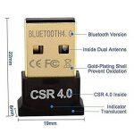 SYIN Mini USB Bluetooth 4.0 Adaptateur Dongle pour ordinateur portable (carré) ** Compatible avec Windows XP / Vista / 7 (32 bits + 64 bits) / 8 (32 bits + 64 bits) /8.1/10 Noir (4.0) de la marque SYIN image 1 produit
