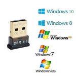 SYIN Mini USB Bluetooth 4.0 Adaptateur Dongle pour ordinateur portable (carré) ** Compatible avec Windows XP / Vista / 7 (32 bits + 64 bits) / 8 (32 bits + 64 bits) /8.1/10 Noir (4.0) de la marque SYIN image 3 produit