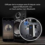TaoTronics Récepteur Bluetooth 4.0 audio (Adaptateur sans fil pour le streaming maison/Kit auto voiture avec sortie stéréo 3.5 mm, microphone intégré) 【 Nouvelle Version 】 de la marque TaoTronics image 2 produit