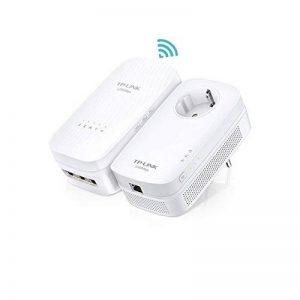 TP-Link CPL 1200 Mbps Wi-Fi Bi-Bande 1750 Mbps avec 3 Ports Ethernet Gigabit, Kit de 2 - Solution idéale pour profiter du service Multi-TV à la maison (TL-WPA8730 KIT) de la marque TP-Link image 0 produit