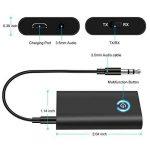 Transmetteur Bluetooth ELEGIANT Récepteur et Émetteur Adaptateur 2-en-1 Wireless avec Prise Jack 3,5 mm 300MAH Batterie pour Casque, Haut-parleurs, TV, MP3 / MP4, IPad, IPhone, Tablettes, TV, Voiture de la marque ELEGIANT image 2 produit