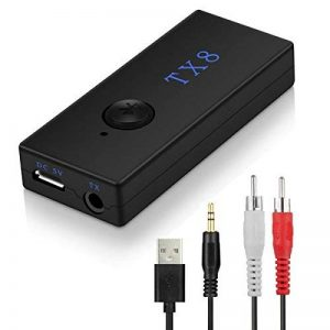 Transmetteur Bluetooth, Konrisa Emetteur Transmetteur Audio Bluetooth Adaptateur avec entrée audio de RCA 3,5 mm pour TV, Haut-parleur, Casque, Home Cinéma PC, Laptop, MP3/4 de la marque Konrisa image 0 produit