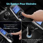 Transmetteur FM Bluetooth VicTsing Kit Voiture Main-libre Sans Fil Adaptateur Radio Chargeur avec Double Port USB et Port Audio 3,5mm, Écran d'Affichage 1,44 Pouces et Port Carte TF pour Iphone, Smartphone IOS / Android etc (Gris) de la marque VICTSING image 2 produit