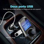 Transmetteur FM Bluetooth VicTsing Kit Voiture Main-libre Sans Fil Adaptateur Radio Chargeur avec Double Port USB et Port Audio 3,5mm, Écran d'Affichage 1,44 Pouces et Port Carte TF pour Iphone, Smartphone IOS / Android etc (Gris) de la marque VICTSING image 3 produit