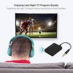 Transmetteur stéréo Bluetooth et adaptateur pour téléviseur, ordinateur de bureau, ordinateur portable, tablette, lecteur MP3, lecteurs CD et DVD et tous les autres périphériques audio avec sortie audio 3,5 mm de la marque JRQ image 4 produit