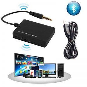 Transmetteur stéréo Bluetooth et adaptateur pour téléviseur, ordinateur de bureau, ordinateur portable, tablette, lecteur MP3, lecteurs CD et DVD et tous les autres périphériques audio avec sortie audio 3,5 mm de la marque JRQ image 0 produit