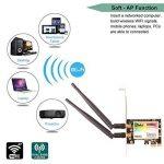 Ubit Carte réseau sans Fil PCI Express à Double Bande 300 Mbps Adaptateur WLAN WiFi avec antenne Bluetooth 4.0 3.5dBi pour Adaptateur PC de Bureau de la marque Ubit image 1 produit
