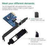 UGREEN Carte Réseau PCI Express Gigabit Ethernet à 1000 Mbps RJ45 LAN Adaptateur pour PC Supporte Windows 10/8/8.1/98SE/ME/2000/XP/Vista de la marque UGREEN image 3 produit