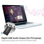 (version améliorée) émetteur Bluetooth pour TV PC, aptX faible Latence, (3.5mm, RCA, Digital Audio) Dual Link USB d'ordinateur sans fil adaptateur audio pour casque d'écoute, Plug and Play, pas d'alimentation batterie intégrée mais Forever de la marque C image 4 produit