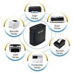 wavlink–78M41Serveur d'impression réseau USB 2.0Print Server Adaptateur LPR 1port MFT pression avec Ethernet 10/100Mbps Port LAN Ethernet Partager une imprimante USB standard avec plusieurs utilisateurs de la marque WAVLINK image 3 produit